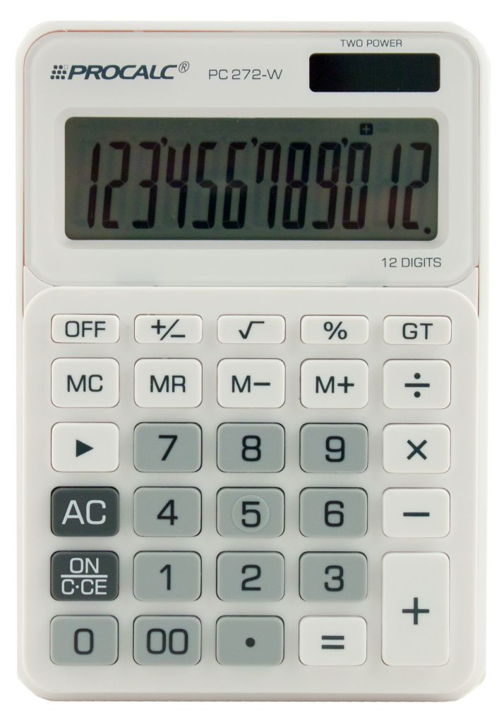 Calculadora de Mesa 12 Dígitos PC 272-W