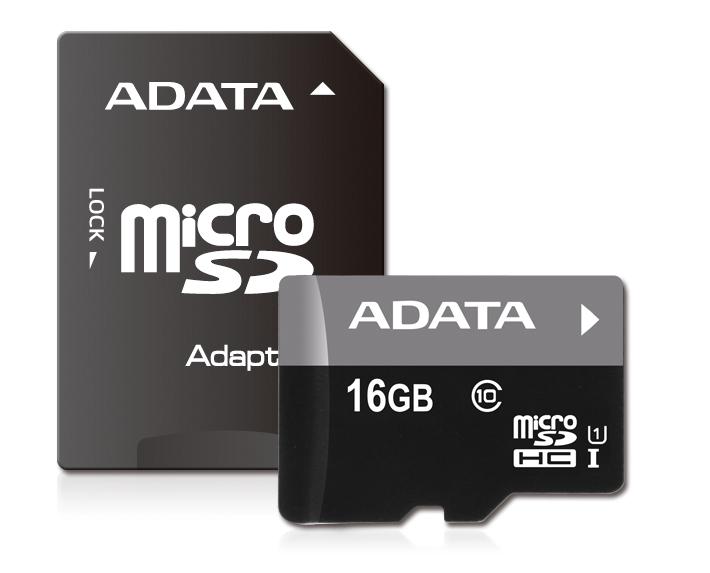 Cartão de Memória 16 GB  Micro SD CL 10 c/ Adaptador