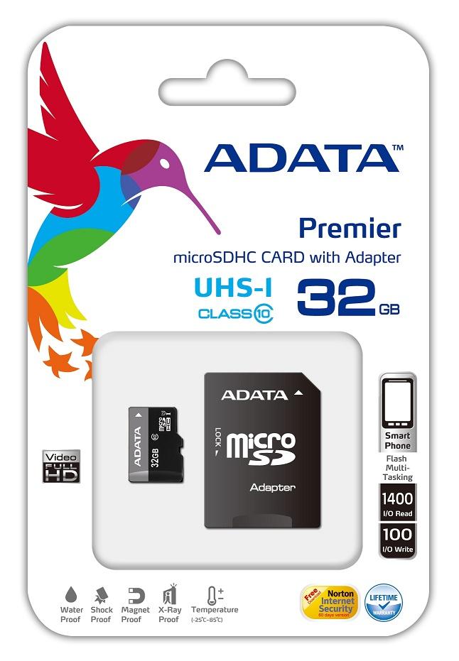 Cartão de Memória 32 GB  Micro SD Cl10 c/ Adaptador