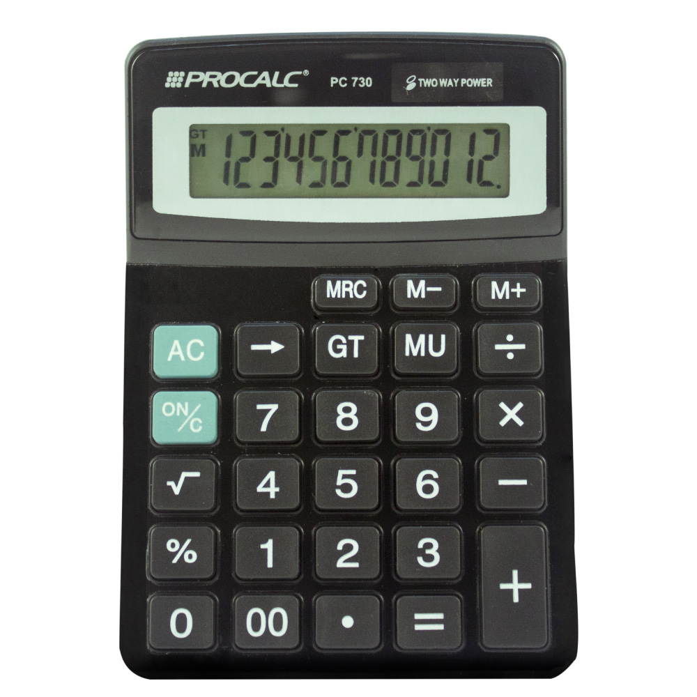 Calculadora de Mesa 12 dígitos PC730