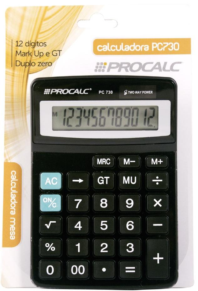 Calculadora de Mesa 12 dígitos PC730