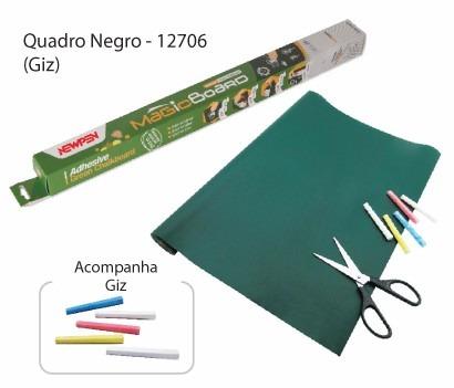 Quadro Negro 45cm x 2m Magic Board + giz liquido branco