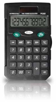 Calculadora Pessoal c/ Capa 12 Dígitos - PC222