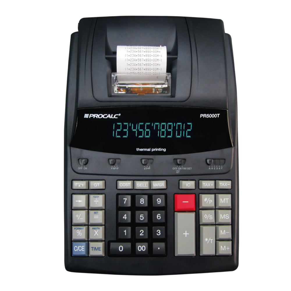 Calculadora de Impressão Térmica PR5000T