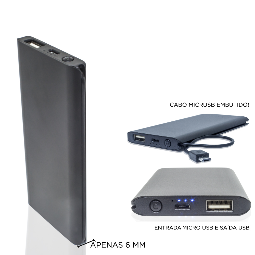 CARREGADOR PORTÁTIL POWER BANK SLIM
