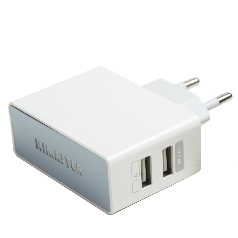 Carregador USB Tomada - 2 USB 1A/2A com LED