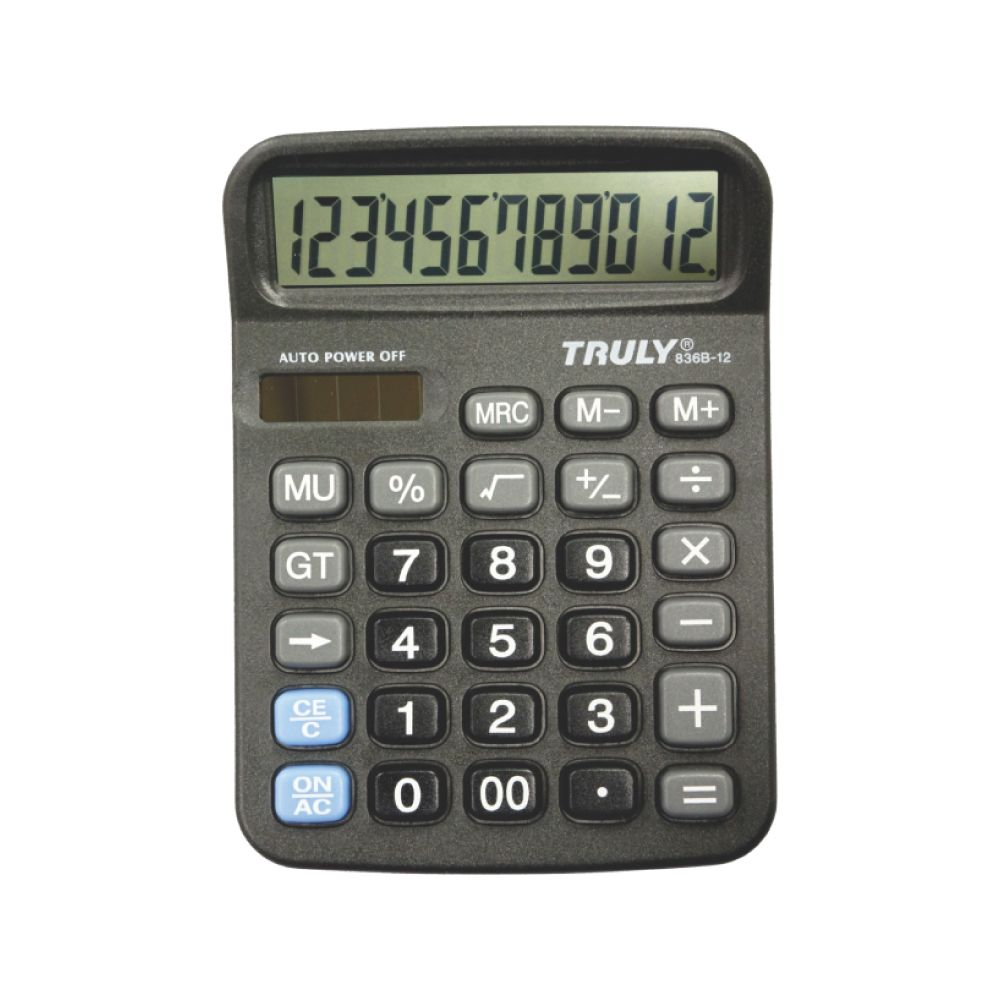 Calculadora de Mesa 836B-12- 12dígitos Truly