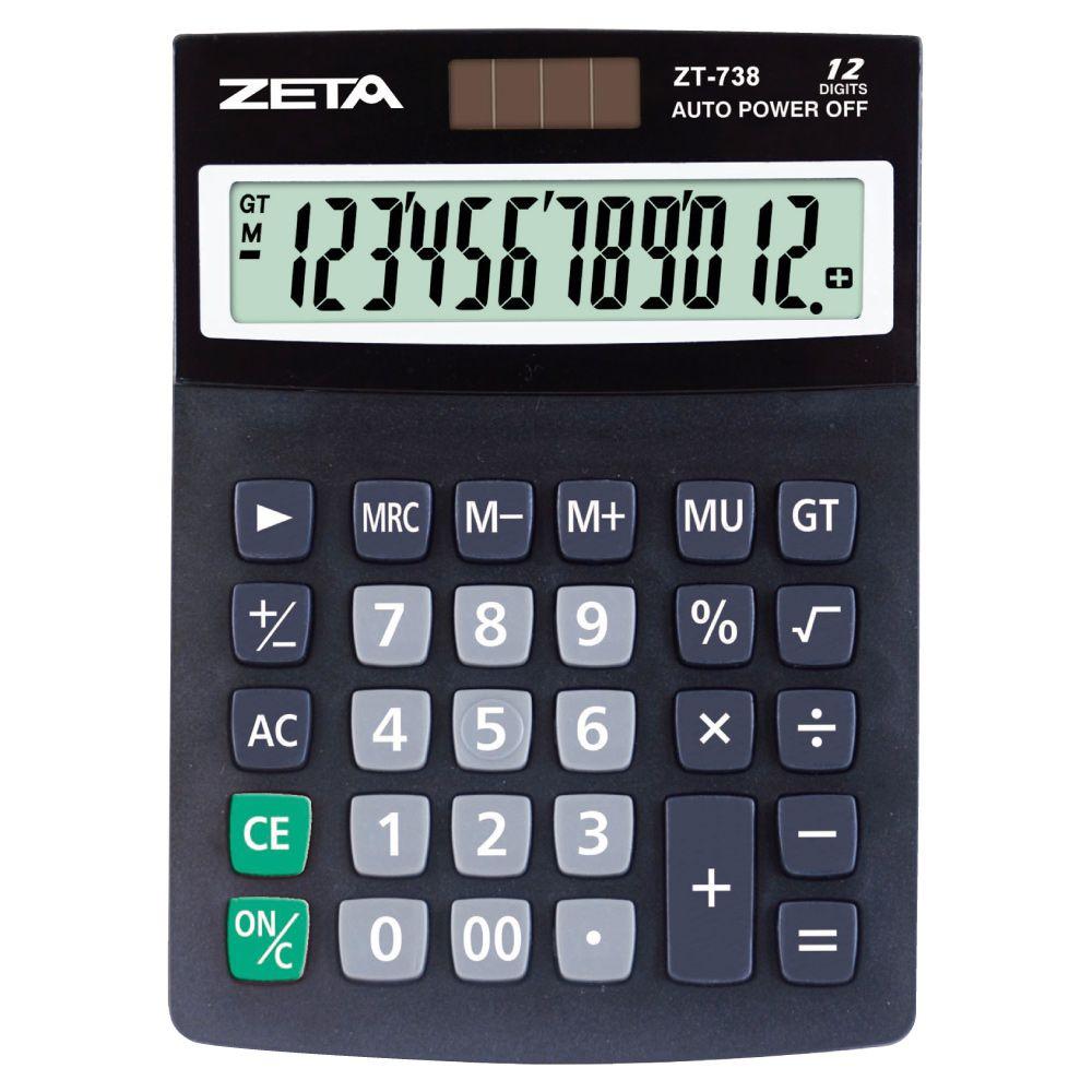 Calculadora de Mesa ZT 738 - 12 dígitos
