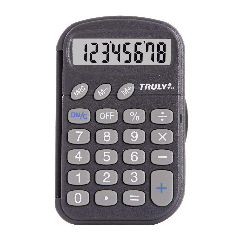 Calculadora Pessoal c/ capa protetora 8 Dígitos - 319A