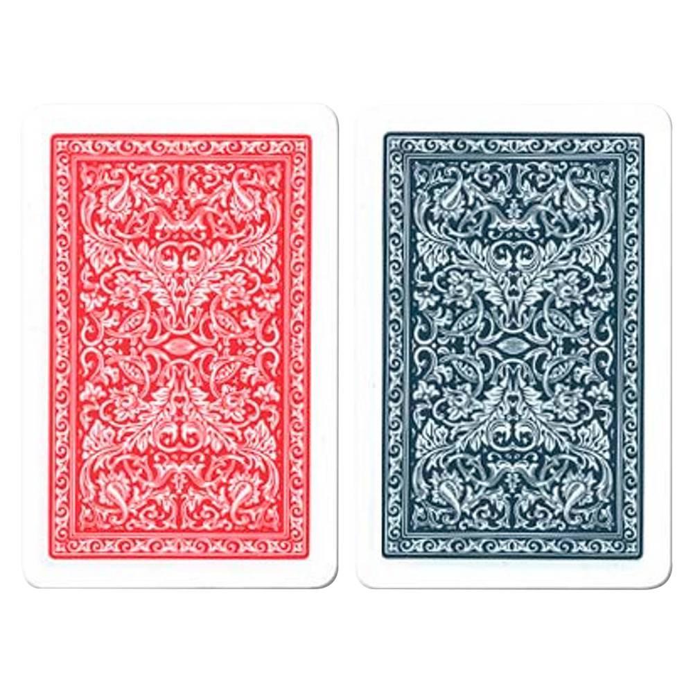 Jogo de Baralho Fournier 2 Deck Azul/Verm - 100% Plástico - Espanhol