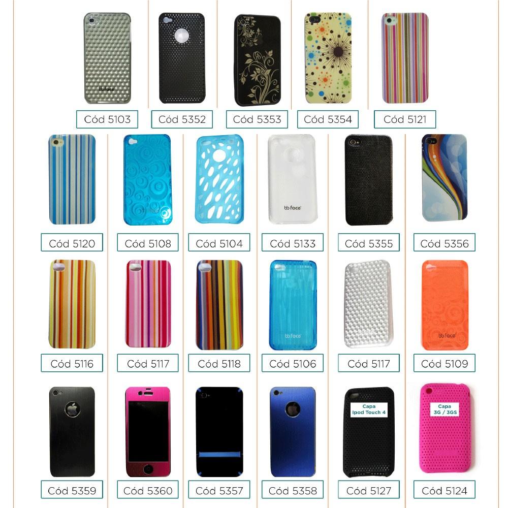 PACK Compre 7 Capas Pague 3 - Capa iphone 4 / 4S PretoStrip