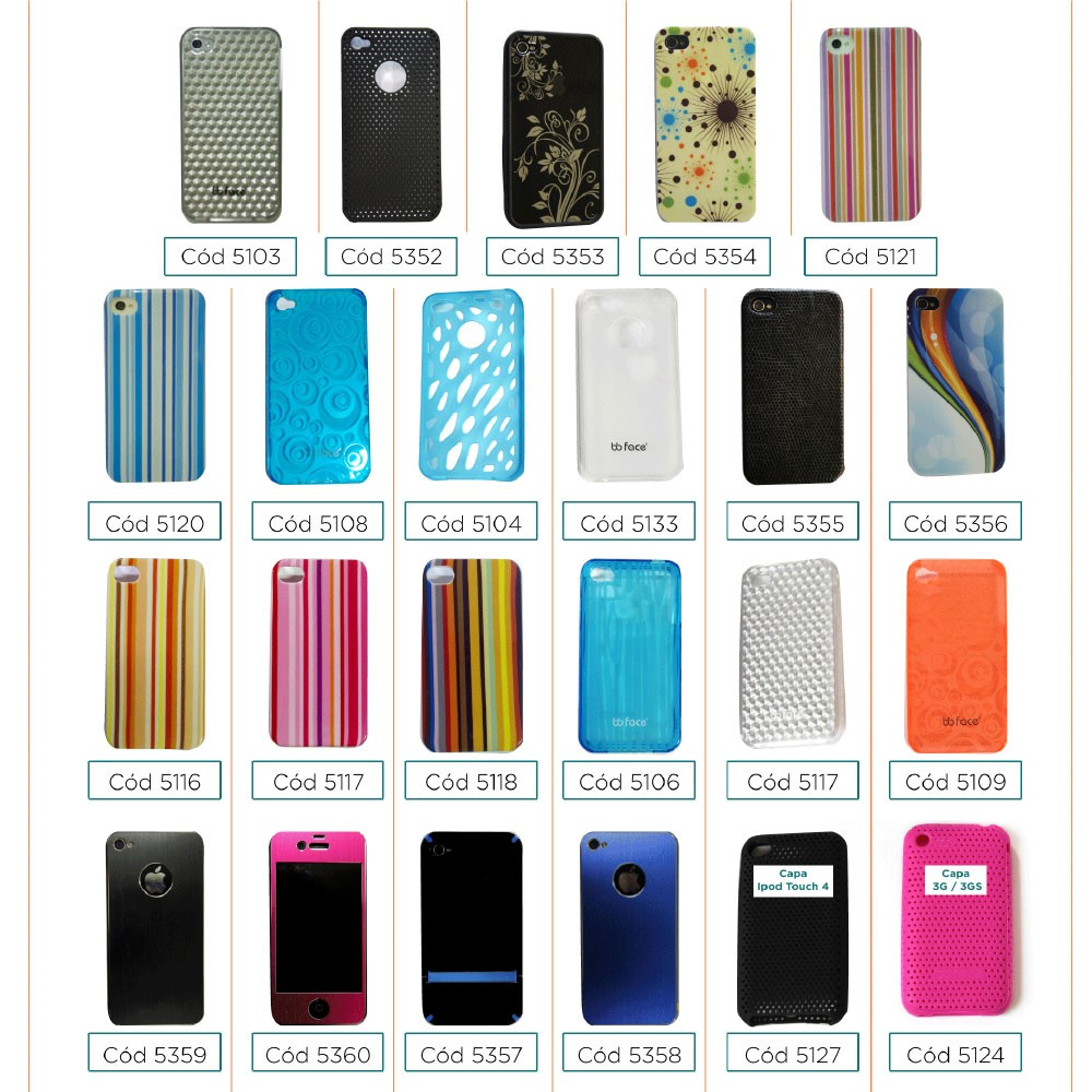 PACK Compre 7 Capas Pague 3 - Capa iphone 4 / 4S Shell
