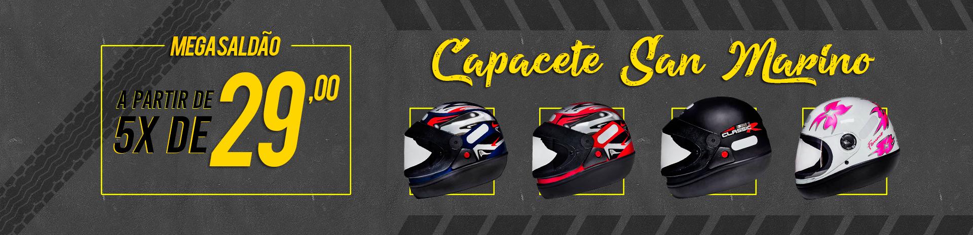 capacete san marino 5x de 29,00