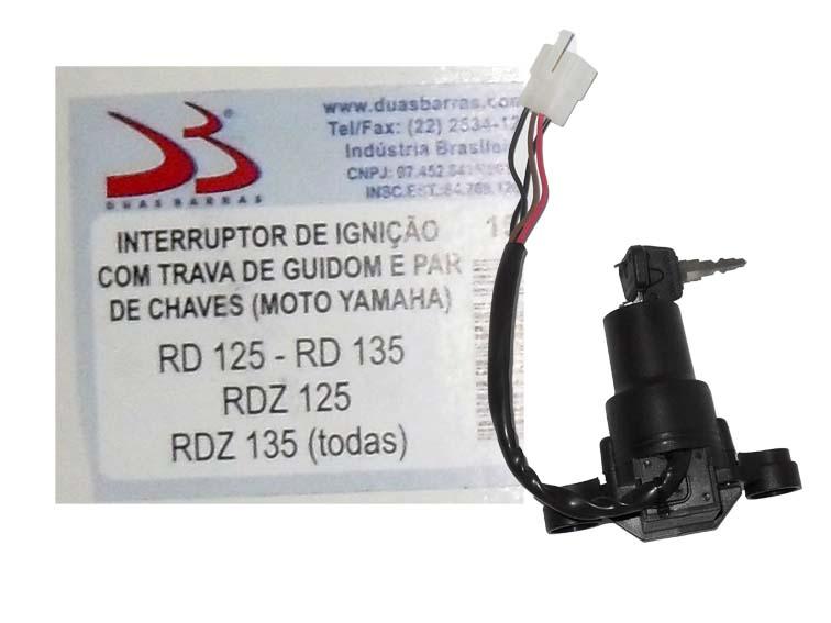 Chave Contato RD 125 -  135 / RDZ C/ Trava (duas Barras)