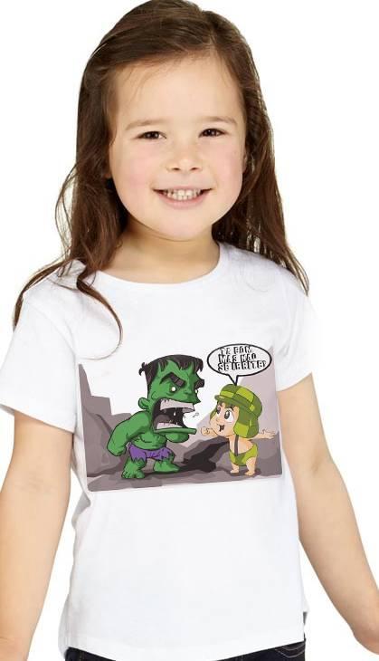 Camiseta  Infantil Filmes -  Hulk CHaves - White  - Baby Monster S/A