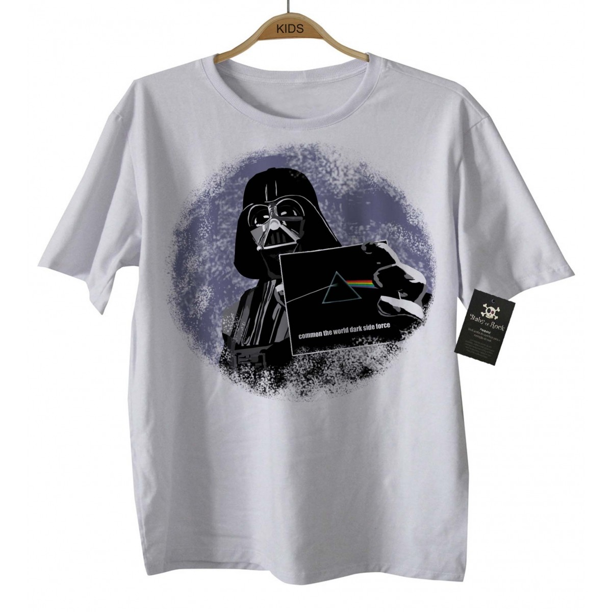 Camiseta Infantil Bebê Floyd/Darth - White  - Baby Monster S/A