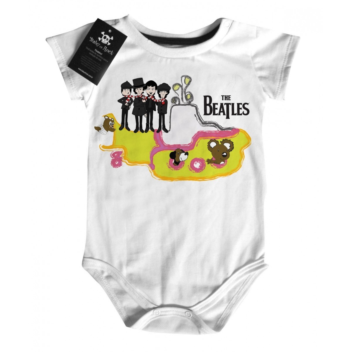 Body Rock   Beatles -  Submarino D - White  - Baby Monster S/A