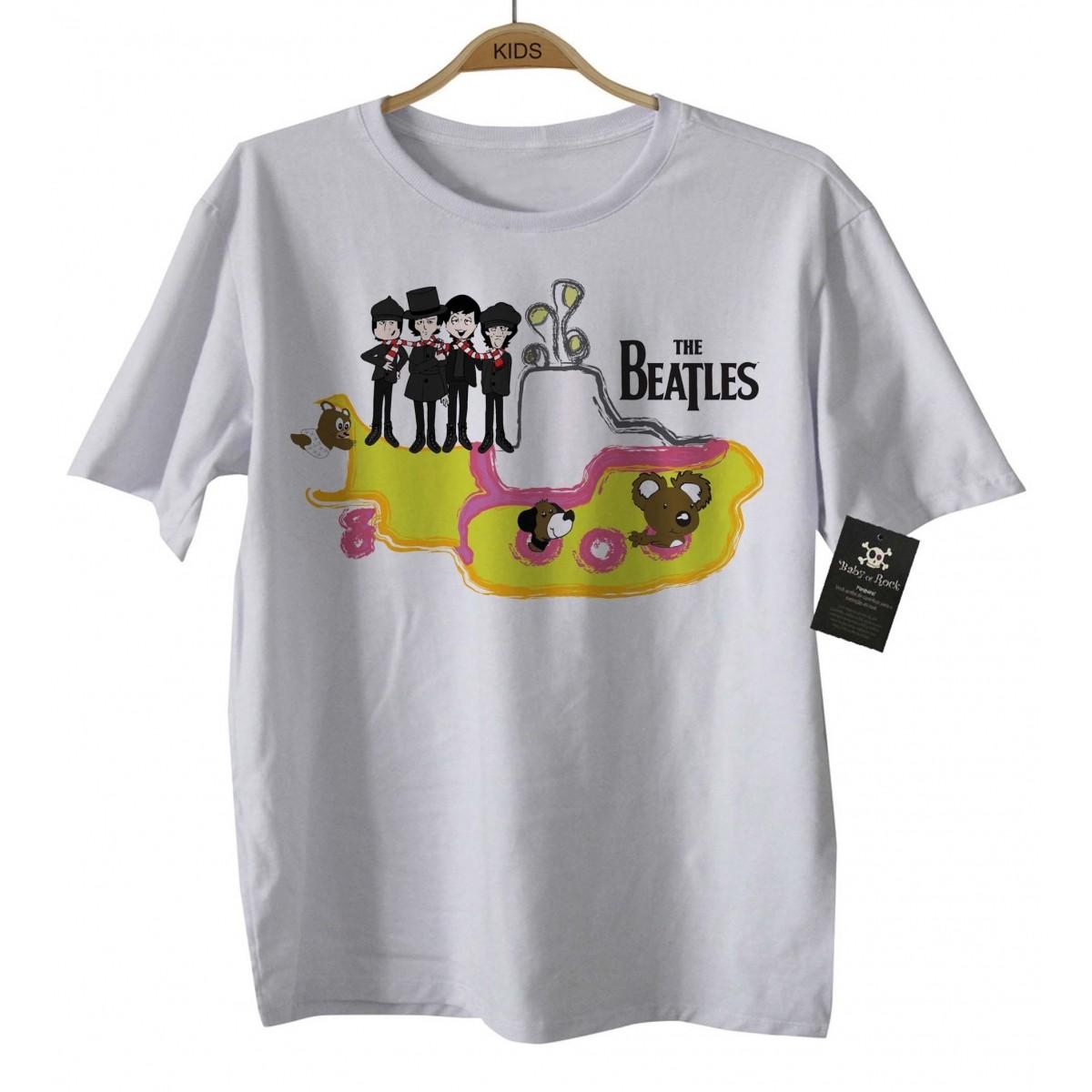 Camiseta  Infantil Beatles - Submarino D - White  - Baby Monster - Body Bebe