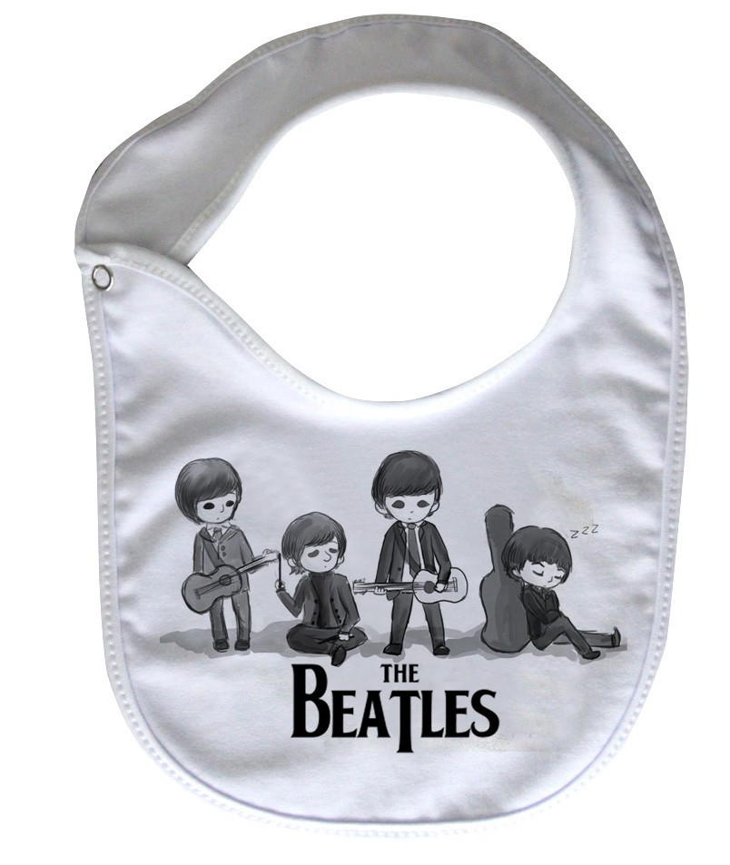 Babador  Rock Baby  - Beatles - White  - Baby Monster - Body Bebe