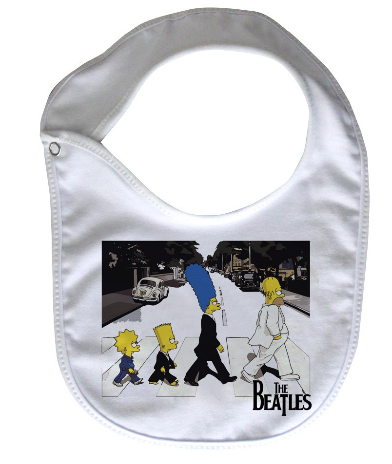Babador  ROck Baby  - Beatles  SImpsons - White  - Baby Monster S/A