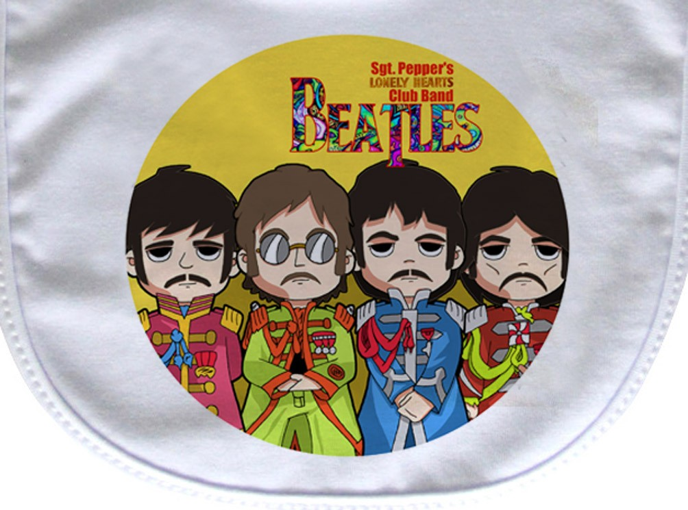 Babador  Rock Baby  - Beatles Srg. Peppers- White  - Baby Monster S/A