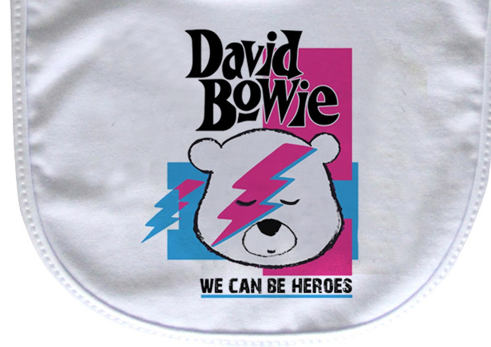 Babador  ROck Baby  - David Bowie - White  - Baby Monster - Body Bebe