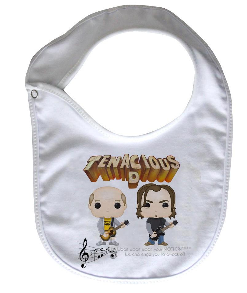 Babador  Rock Baby  - Tenacius D - White  - Baby Monster S/A