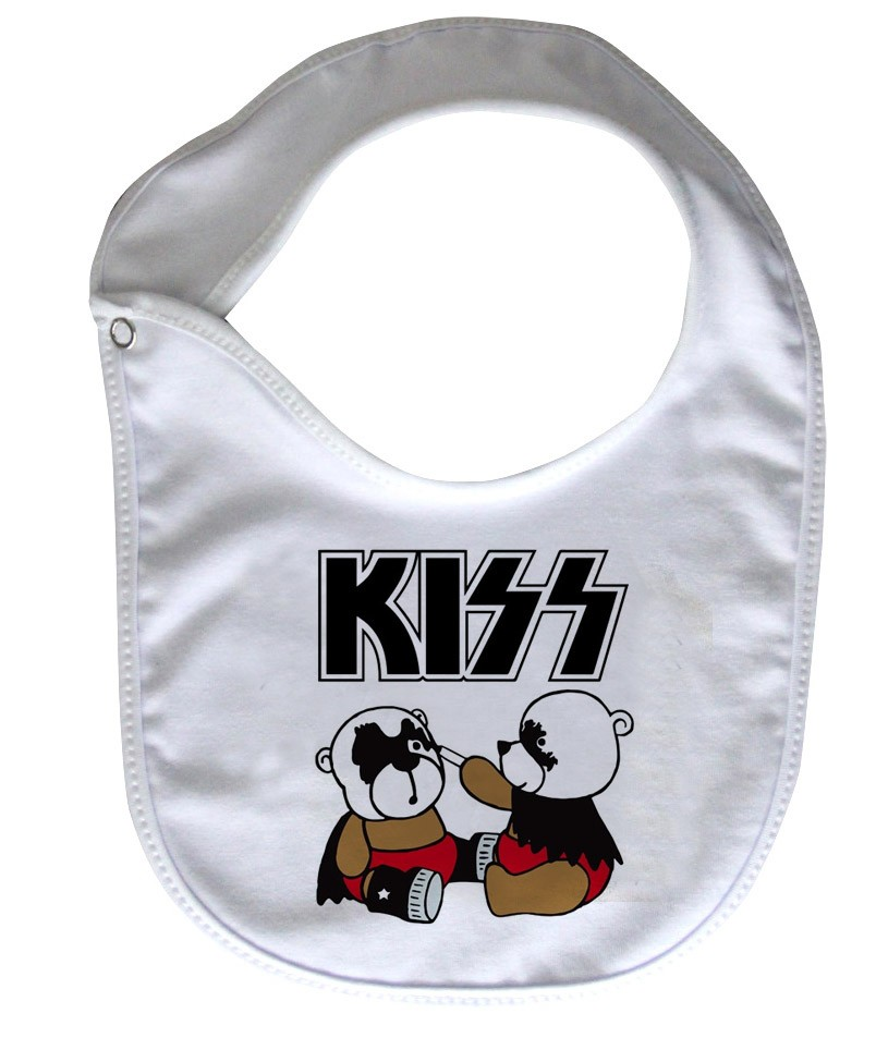 Babador  Rock Baby  - Kiss Cute - White  - Baby Monster - Body Bebe