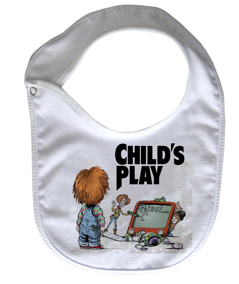 Babador  Rock Baby  - Chucky/ Toy Story - White  - Baby Monster S/A