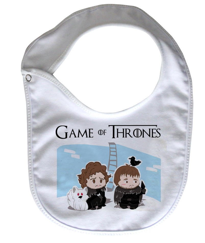 Babador  Rock Baby  - Game of Thrones - White  - Baby Monster - Body Bebe