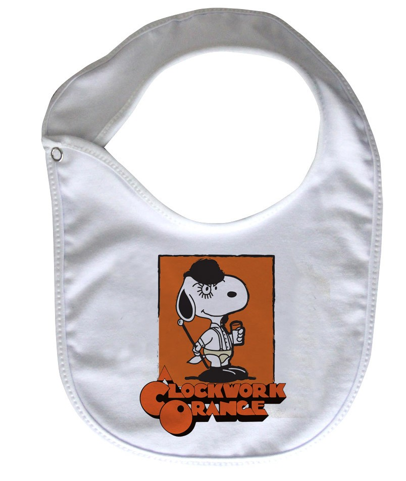 Babador  Rock Baby  - Laranja Mecânica - White  - Baby Monster S/A