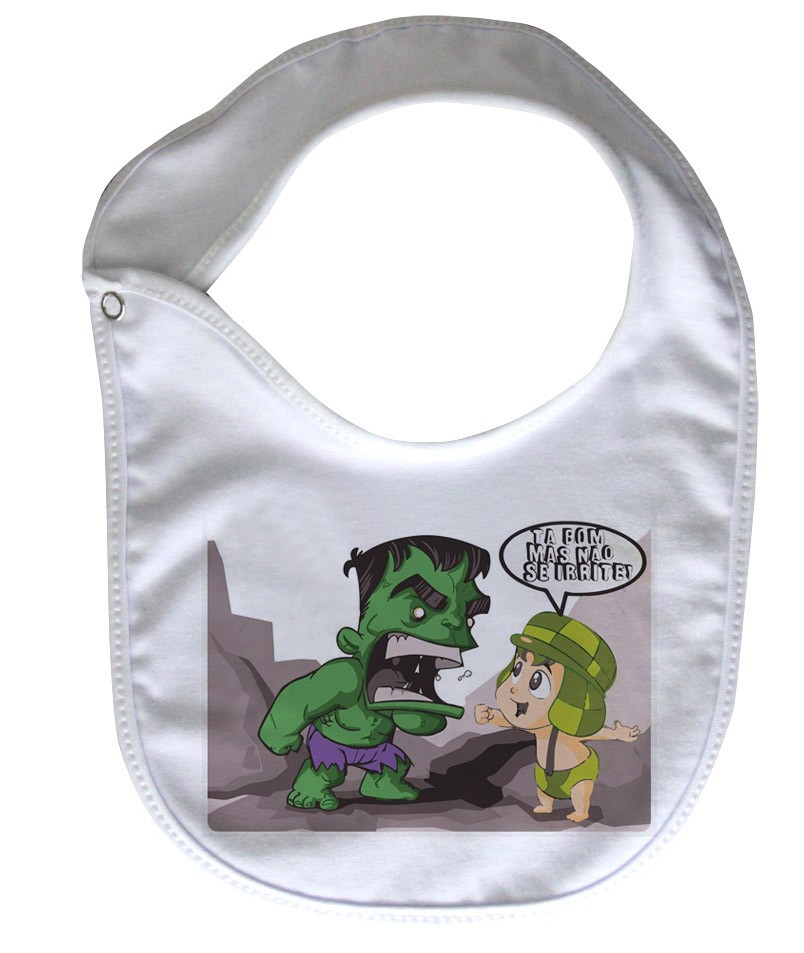 Babador  Rock Baby  - Chaves/Hulk - White  - Baby Monster S/A