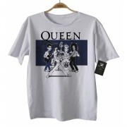Camiseta  Infantil Rock - Queen Caricato - White