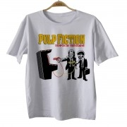 Camiseta Infantil Movies - Pulp Fiction Tempo de Game - Tarantino - White