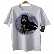 Camiseta Infantil Bebê Floyd/Darth - White