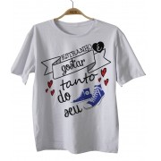 Camiseta Bebe Rock - Meu All Star Azul D - White