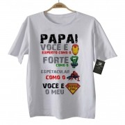Camiseta de Rock Infantil - SUPER PAI - White