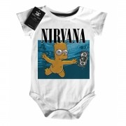 Body Bebe Rock Nirvana -  Bart Nevermind D - White