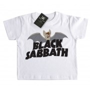 Camiseta Bebê Black Sabbath Morcego  - White