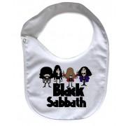 Babador  Rock Baby  - Black Sabbath Caricature - White