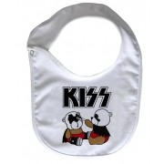 Babador  Rock Baby  - Kiss Cute - White