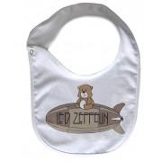 Babador  Rock Baby  - Led Zeppelin Cute - White