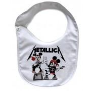 Babador  Rock Baby  - Metallica Mickey - White