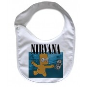 Babador  Rock Baby  - Nirvana Bart Nevermind - White