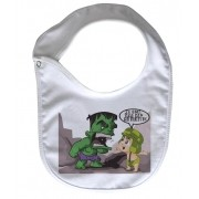 Babador  Rock Baby  - Chaves/Hulk - White
