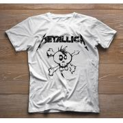 Camiseta de Rock Infantil - Metallica - White
