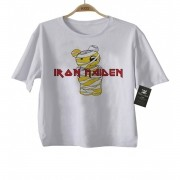 Camiseta de Rock Infantil -  Iron Maiden  - Cute - White