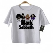 Camiseta  Infantil Rock -  Black Sabbath - Caricato - White