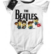 Body Bebê Baby Monster  Rock  Infantil Beatles - Minions - White
