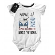 Body Baby Rock - Papai ja kombinou- White